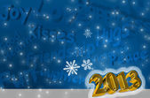 Best wishes for the New Year 2013 — Stock Photo