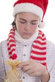 Preparing the Christmas present — Stock Photo
