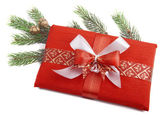 Christmas Present in red — Stock Photo