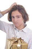 Did I buy the rigt present? — Stock Photo