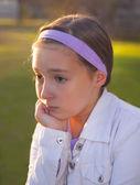 Triest tienermeisje — Stockfoto