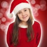 Beautiful Christmas Girl Smiling — Stock Photo