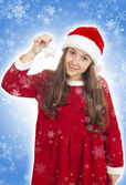 Beautiful Christmas teenage girl — Stock Photo