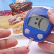 Funny Blood Sugar Test — Stock Photo