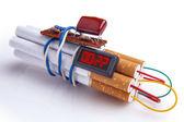 タバコのダイナマイトの時限爆弾 — ストック写真