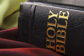 Black leather bible — Stock Photo