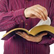 Man reading a Bible — Stock Photo