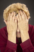 Rheumatoid arthritis hands — Stock Photo