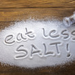Постер, плакат: Eat less salt and medical concept
