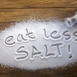 Eat less salt and medical concept — Stock Photo
