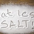Eat less salt and medical concept — Stock Photo #49300323