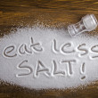 Eat less salt and medical concept — Stock Photo #49300627