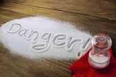 Danger od too much salt and Health Hazard — Stock Photo