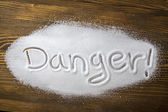Danger od too much salt and Health Hazard — Stock fotografie