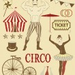 Circo and roving performers - Stock Vector