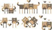 Abbildung der geliebten katzen — Stockvektor