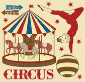 Circus acrobat — Stock Vector