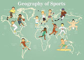 Sport map — Stock Photo