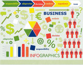 Info graphic business — Stock Vector
