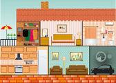 Einfamilienhaus — Stockvektor