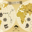 Pirate map — Stock Vector