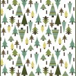 Winter Christmas pattern with penguins — Vettoriali Stock