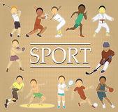 Carte de sport — Vecteur