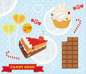 Candy cakes — Stock Vector
