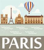 Paris love — Stock Vector