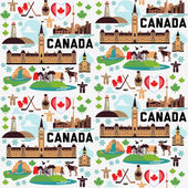 Canada pattern — Stock Vector