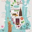 Cartoon map of new york city — Stock Vector #47148049