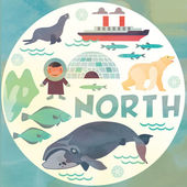 Nordpolen — Stockvektor