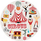 Circle pattern of the circus — Stock Vector