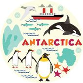 Antarktida — Stock vektor