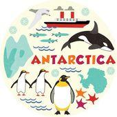 Antartide — Vettoriale Stock