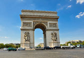 O arco do triunfo. paris. — Fotografia Stock