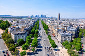 The Champs-Elysées seen from the Arc de Triomphe. — Stock Photo