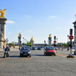 Stock Photo: Pont Alexandre III with north front of Invalides in Paris.