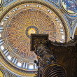 Interior of St. Peter's Basilica in Vatican. — ストック写真
