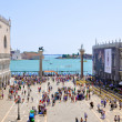 The Piazzetta San Marco, view from Saint Mark's Basilica  in Venice. — Stock Photo