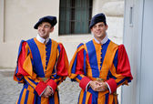 Papal Swiss Guard in uniform. — Stock Photo