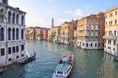 Canal Grande v Benátkách. — Stock fotografie
