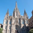 Cathedral of the Holy Cross and Saint Eulalia. Barcelona. — Stock Photo