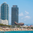 The Barceloneta beach. — Stock Photo