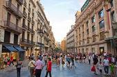 Shopping street in Barcelona. — Stock Photo