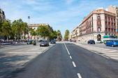 Motorway traffic. Barcelona. — Stock Photo