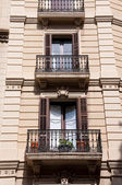 The elegant balcony in Barcelona. — Stock Photo