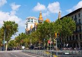 Paseo de gracia.barcelona, españa. — Foto de Stock