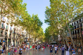 La rambla barcelona, i̇spanya. — Stok fotoğraf