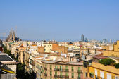 View of Barcelona from La Pedrera by Antoni Gaudí. — Стоковое фото